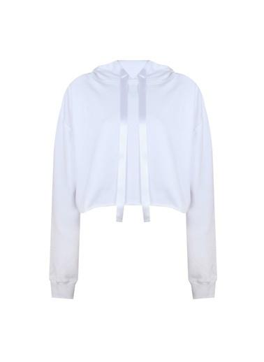 Deux Beautés Coline Kapüşonlu Sweatshirt  Beyaz